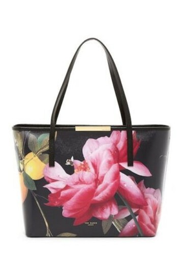 Ted Baker Tote in black pink yellow vivid Image 1