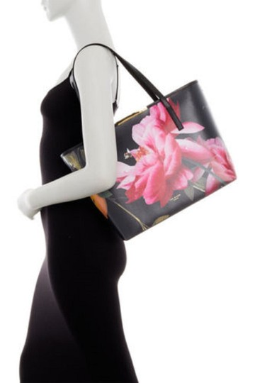 Ted Baker Tote in black pink yellow vivid Image 2