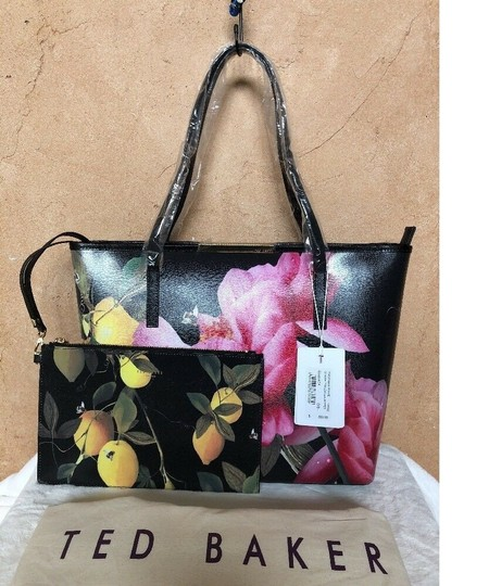 Ted Baker Tote in black pink yellow vivid Image 3