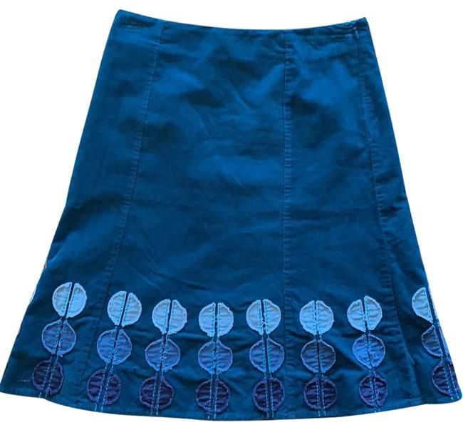 Item - Teal Corduroy A Line Skirt Size 6 (S, 28)