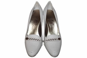 Salvatore Ferragamo Light Grey Pumps