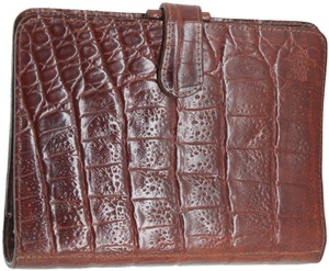 Mulberry Crocodile Leather Small Ring Organizer Agenda Booklet