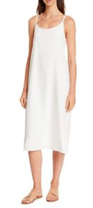 Eileen Fisher short dress Ivory Cami Midi Cool Comfy Adjustible Straps Polished Jersey Lined Cami on Tradesy