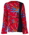 Diane von Furstenberg Top red and floral