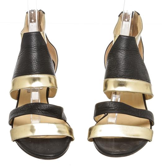 Jimmy Choo Wedge Black and Gold Sandals Image 1