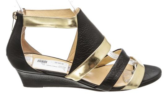 Jimmy Choo Wedge Black and Gold Sandals Image 2
