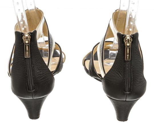 Jimmy Choo Wedge Black and Gold Sandals Image 4