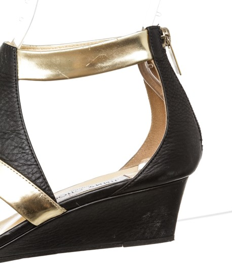 Jimmy Choo Wedge Black and Gold Sandals Image 5