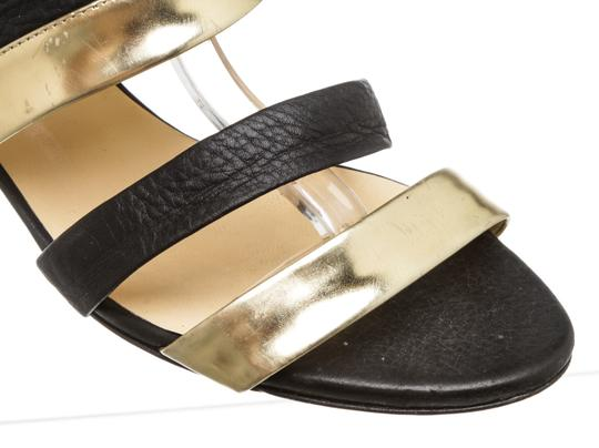 Jimmy Choo Wedge Black and Gold Sandals Image 9