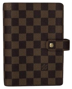 Louis Vuitton Louis Vuitton Damier Ebene Agenda MM Planner Wallet