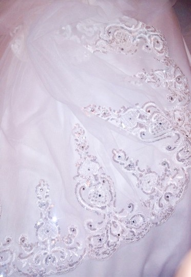 Long New White Or Ivory 3m/10 Feet Sequins Cathedral Bridal Veil Image 8