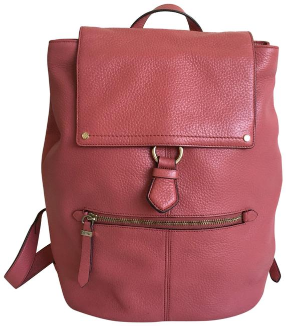 Item - Top Handle Pink Leather Backpack