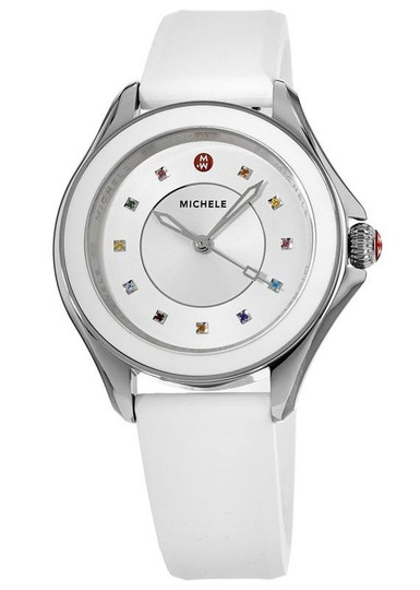 Preload https://img-static.tradesy.com/item/25902750/michele-white-silicone-stainless-steel-cape-mww27a000007-watch-0-0-540-540.jpg