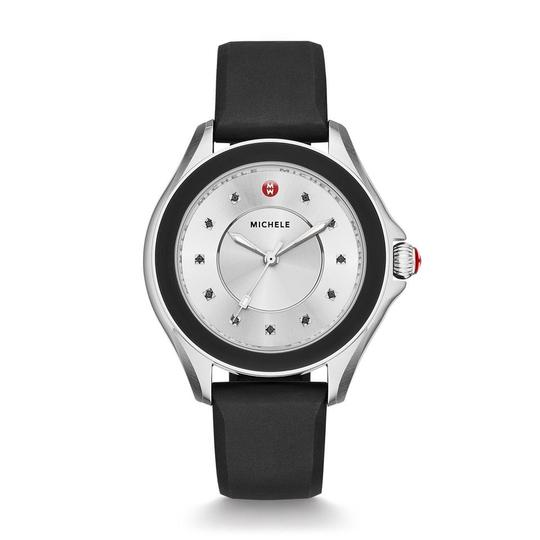 Michele Cape Silicone Stainless Steel MWW27A000012 Watch Image 4