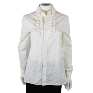 Saint Laurent Button Down Shirt White