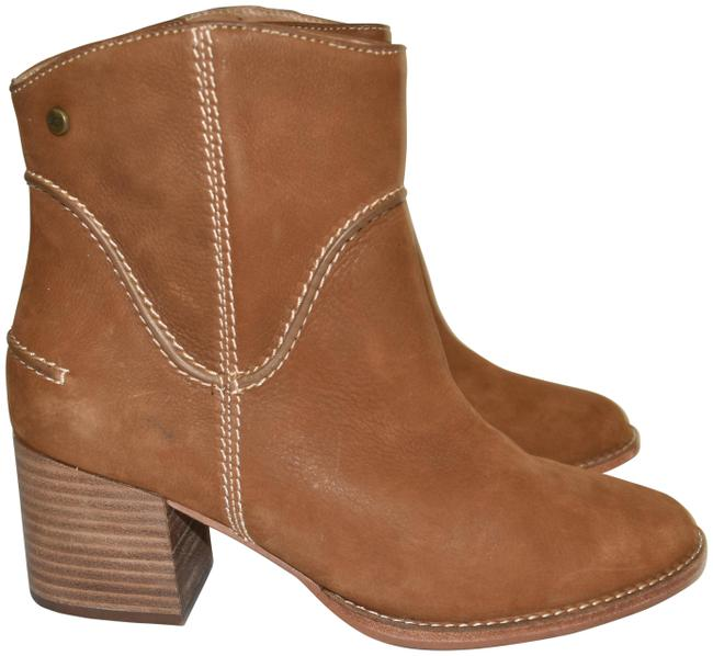 Item - Chesnut Annie Stacked Pebbled Leather Moto Combat (M28 Boots/Booties Size US 8.5 Regular (M, B)