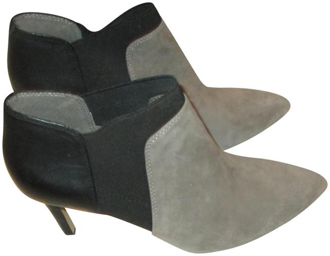 Item - Black Gray Leather Suede Leather Two Tone Ankle Boots/Booties Size US 7 Regular (M, B)