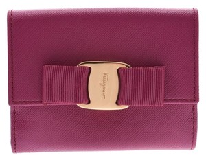 Salvatore Ferragamo Ferragamo Vara W hook wallet Sangria G hardware women's leather