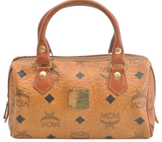 Preload https://img-static.tradesy.com/item/25903061/mcm-cognac-monogram-visetos-boston-867341-brown-coated-canvas-satchel-0-1-540-540.jpg