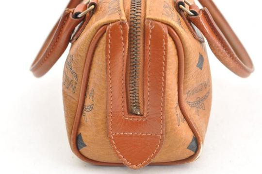 MCM Speedy Joy Boston Liz Anya Satchel in brown Image 9