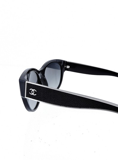 Chanel CH5273-Q c.501/S8 55mm Galuchat Stingray Leather Oversized Polarized Image 2