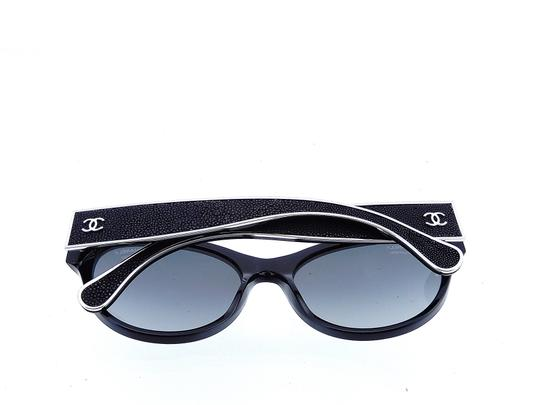Chanel CH5273-Q c.501/S8 55mm Galuchat Stingray Leather Oversized Polarized Image 6