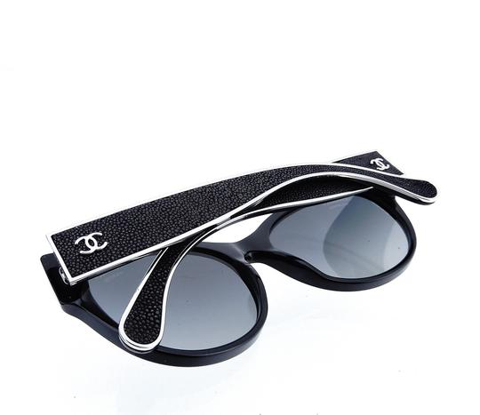 Chanel CH5273-Q c.501/S8 55mm Galuchat Stingray Leather Oversized Polarized Image 9