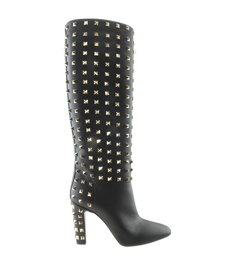 Valentino Knee - High Leather Black Boots Image 2