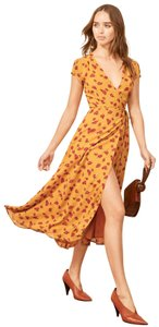 Yellow Maxi Dress by Reformation Floral