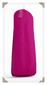 The Last Minute Bride Fuchsia Breathable Zippered Garment Bag with Gusseted Bottom