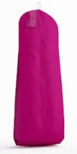 The Last Minute Bride Fuchsia Breathable Zippered Garment Bag with Gusseted Bottom Image 2