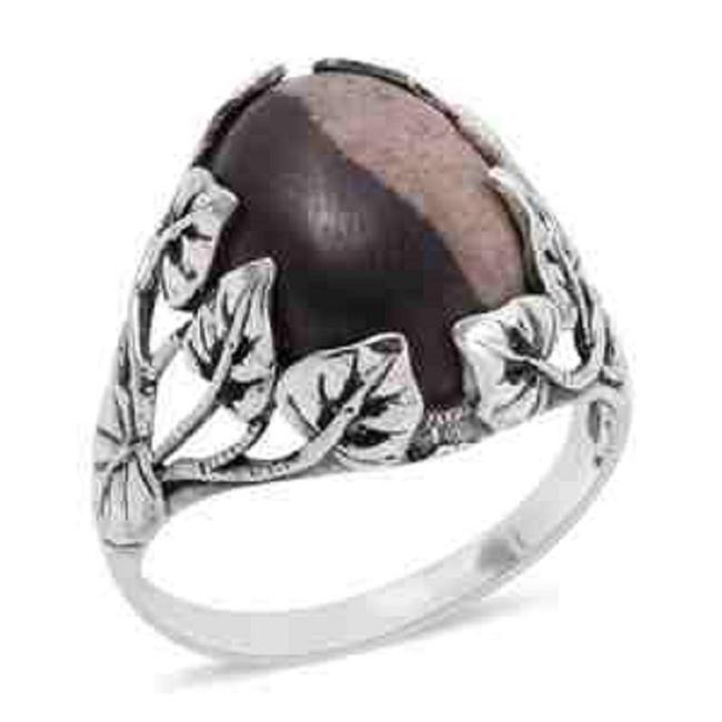 Item - Peanut Wood Jasper 925 Sterling Silver (Size 6) Ring
