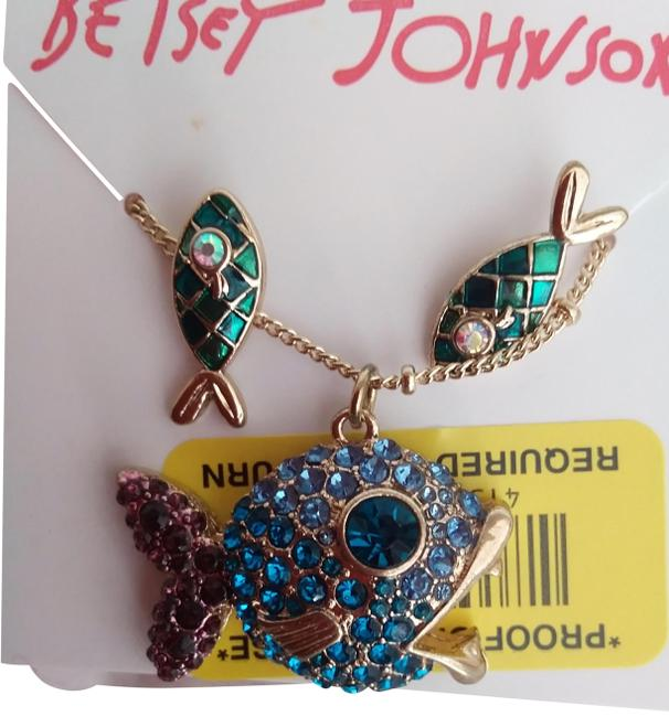 Item - Blue New Fish Necklace & Earrings