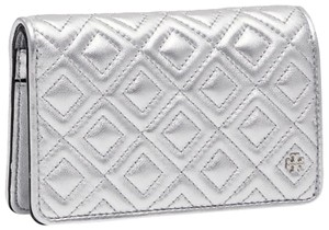 Tory Burch NEW Tory Burch Fleming quilted Metallic leather Slim Medium Wallet