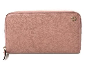 Gucci Gucci Dollar Calf GG Logo Soft Pink Leather Continental Wallet 449347