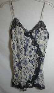 Dior Gray and White Vintage Le Connoisseur Silk Chemise Short Nightie