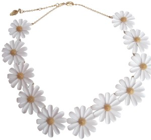 Kate Spade Kate Spade New White Daisy Necklace