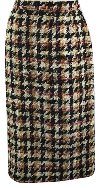 Item - Brown Multicolor Boucle Large Skirt Size 12 (L, 32, 33)