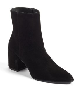 Stuart Weitzman Almond Toe Suede Winter Fall Black Boots
