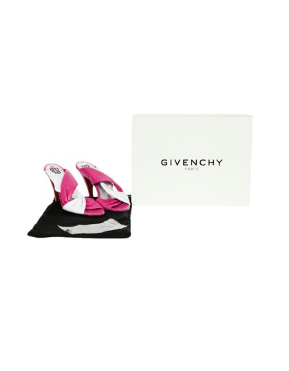Givenchy Tie Heeled Leather Pink, white Mules Image 6