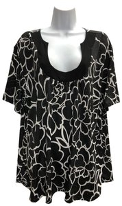 BRITTANY BLACK Plus-size Top BLACK/WHITE