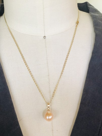 14k Gold Soft Pink Akoya Pearl 18 Inch Mariner Chain New Necklace Image 7