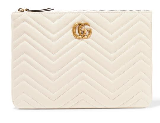 Gucci Pouch Marmont WHITE Clutch Image 1