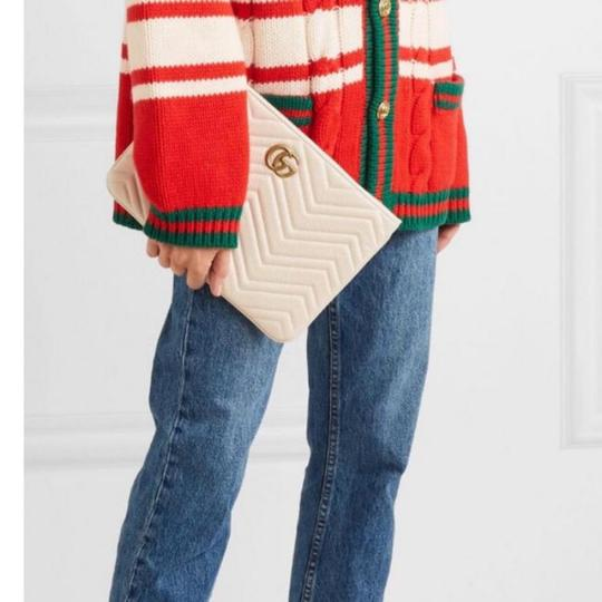 Gucci Pouch Marmont WHITE Clutch Image 3