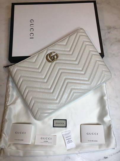 Gucci Pouch Marmont WHITE Clutch Image 4