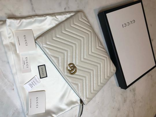 Gucci Pouch Marmont WHITE Clutch Image 5