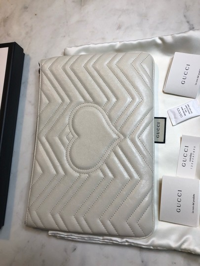 Gucci Pouch Marmont WHITE Clutch Image 6