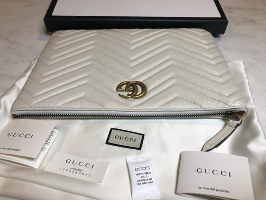 Gucci Pouch Marmont WHITE Clutch Image 7