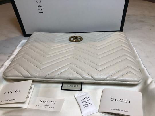 Gucci Pouch Marmont WHITE Clutch Image 8