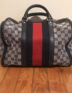 Gucci Blue and Red Travel Bag